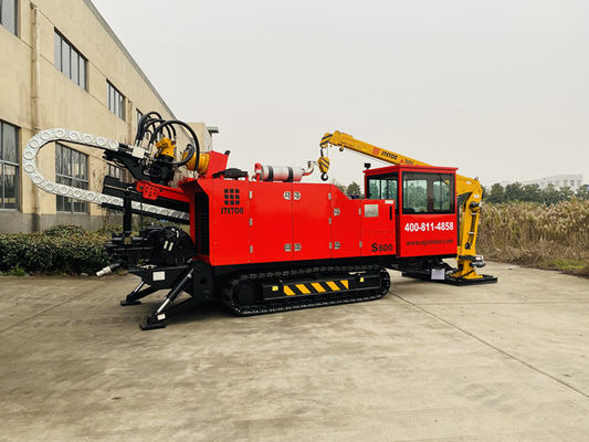 Low Fuel Consumption 800KN 15T Underground Horizontal Pipe HDD Boring Machine